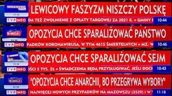 KRRiT odpowiada ws. paska TVP: ,,lewicowy faszyzm niszczy Polskę'' - miniaturka
