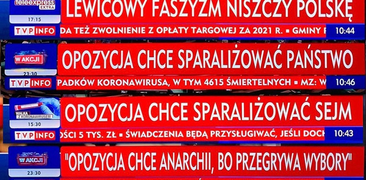 KRRiT odpowiada ws. paska TVP: ,,lewicowy faszyzm niszczy Polskę'' - zdjęcie