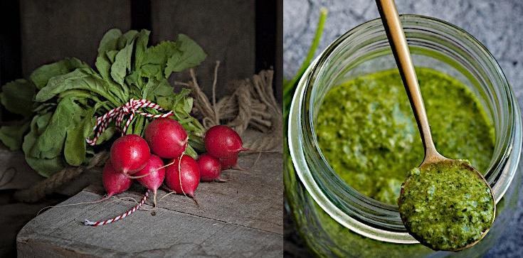 Pesto z liści rzodkiewki - witaminowa bomba - zdjęcie