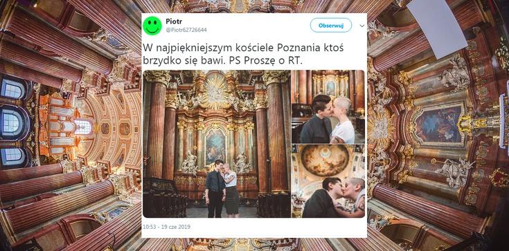 Prowokacja w poznańskiej farze. Lesbijki urządziły sobie sesję fotograficzną - zdjęcie