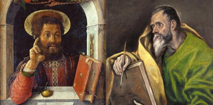 Kłótnia o 'białą kiełbasę' św. Marka ze św. Łukaszem - zdjęcie