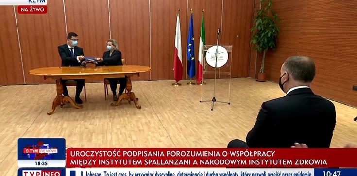 Prezydent Duda w Rzymie. Podpisanie umowy z Instytutem Spallanzaniego  - zdjęcie