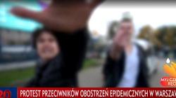 Antycovidowcy zaatakowali ekipę TVP. Użyli gazu łzawiącego i pięści - miniaturka