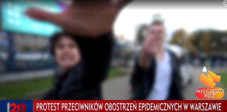 Antycovidowcy zaatakowali ekipę TVP. Użyli gazu łzawiącego i pięści - zdjęcie