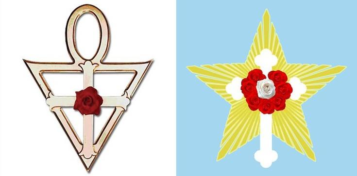 """Uwaga na heretycki symbol """"Krzyż z różą""""  - zdjęcie"""