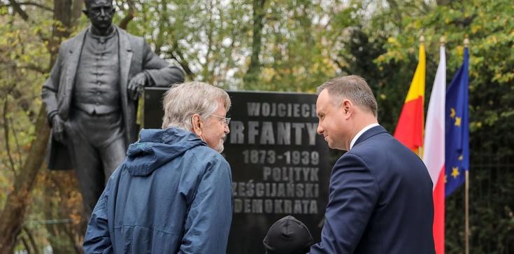 Prezydent Andrzej Duda odsłonił pomnik Wojciecha Korfantego - zdjęcie