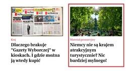 ,,Gazeta Wyborcza'' reklamuje... Niemcy - miniaturka