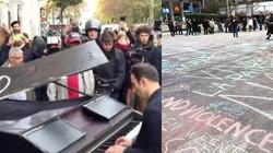 Europejska reakcja na zamachy: Fortepian, kreda i kwiaty. A islamiści się z nas śmieją i planują kolejne ataki - miniaturka