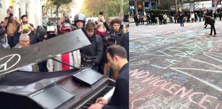 Europejska reakcja na zamachy: Fortepian, kreda i kwiaty. A islamiści się z nas śmieją i planują kolejne ataki - zdjęcie