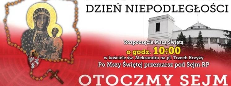 Krucjata Różańcowa za Ojczyznę po raz 6. modliła się pod Sejmem