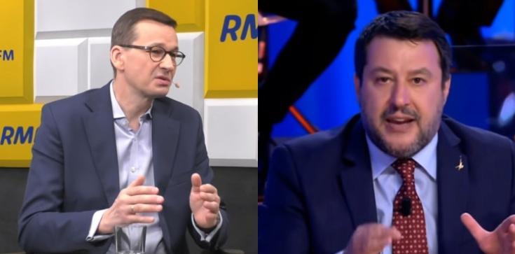 Pandemia, unijne środki i relacje polsko-włoskie. Premier rozmawiał z Matteo Salvinim  - zdjęcie