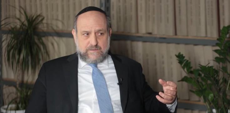 Schudrich o sporze polsko-izraelskim: Jestem optymistą   - zdjęcie