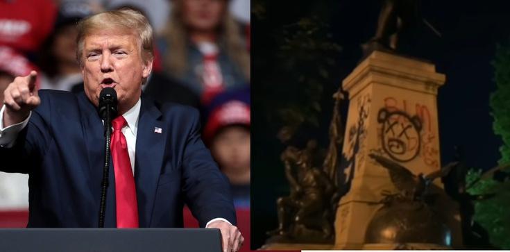Donald Trump: Aresztujemy każdego, kto niszczy pomniki - zdjęcie