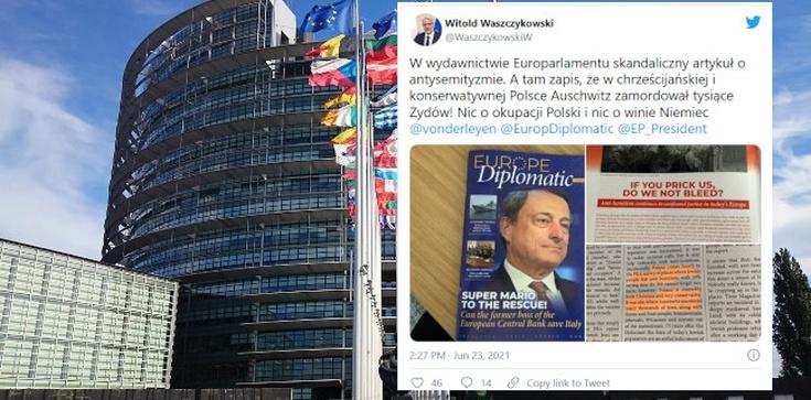 Obrzydliwy artykuł w wydawnictwie Europarlamentu! ,,W Polsce zamordowano tysiące Żydów'' i… ani słowa o Niemcach  - zdjęcie