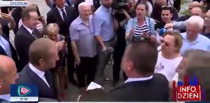 ,,Tusk patrzył na to. Śmiali się''. Uderzona na spotkaniu z Tuskiem kobieta zapowiada kroki prawne  - zdjęcie