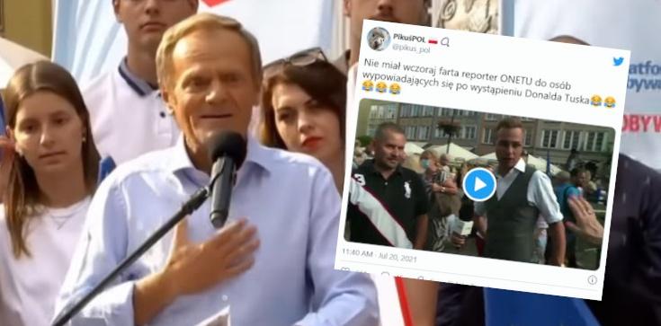 Ależ Onet zepsuł Tuskowi wiec! Prawdziwy HIT ze spotkania w Gdańsku  - zdjęcie