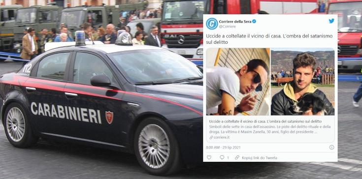 Włochy. Młody Polak dopuścił się morderstwa ,,na tle satanistycznym''  - zdjęcie