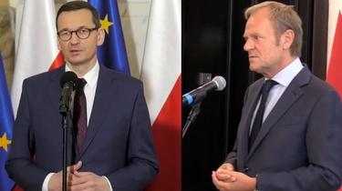 Tusk atakuje rząd ws. szczepień. Odpowiada premier Morawiecki - miniaturka