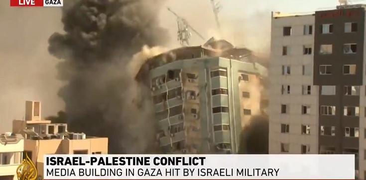 [Wideo] Izrael zrównał z ziemią siedzibę mediów zagranicznych w Strefie Gazy - zdjęcie