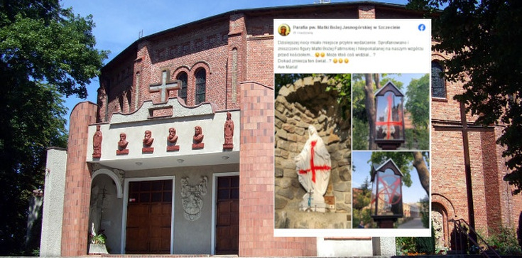,,Dokąd zmierza ten świat?''. Kolejny atak na katolicki kościół w Szczecinie  - zdjęcie