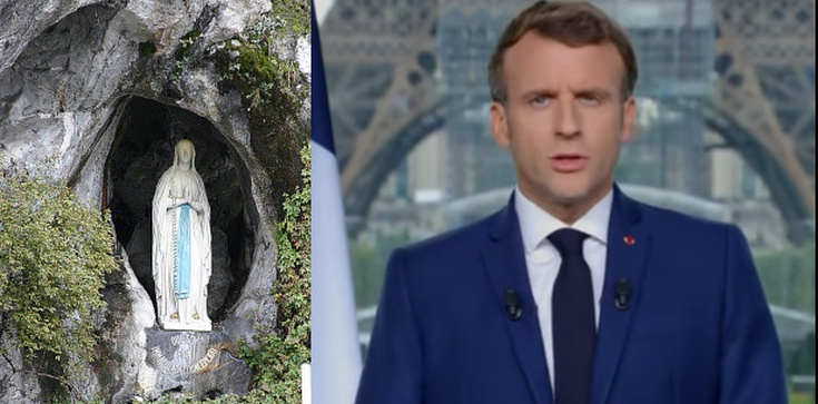 Francuzi na nowo odkrywają Lourdes. Sanktuarium odwiedził prezydent Macron  - zdjęcie