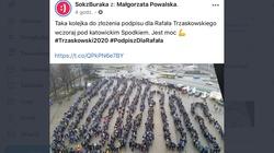 Żenada! Sok z Buraka zdjęcie IEM z 2015 zamieścił jako kolejkę do list poparcia Trzaskowskiego - miniaturka