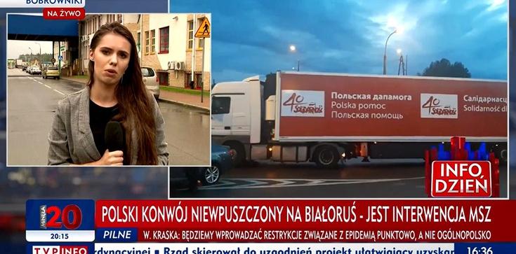 """Kierowca konwoju humanitarnego """"Solidarności"""" aresztowany i skuty przez białoruskie KGB - zdjęcie"""