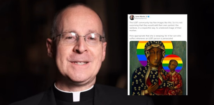 Amerykański jezuita broni polskich aktywistów. Chodzi o ,,tęczową'' Matkę Bożą - zdjęcie