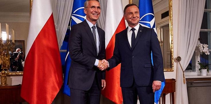 NATO, Covid-19 i wojska amerykańskie w Polsce. Główne tematy rozmów prezydenta Dudy z sekretarzem generalnym NATO Stoltenbergiem  - zdjęcie
