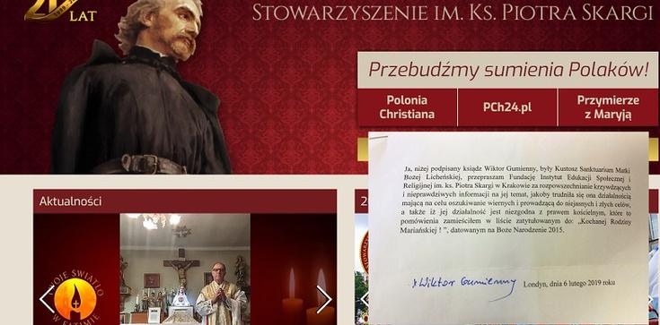 Były kustosz Lichenia przeprasza Instytut i Stowarzyszenie ks. Piotra Skargi - zdjęcie