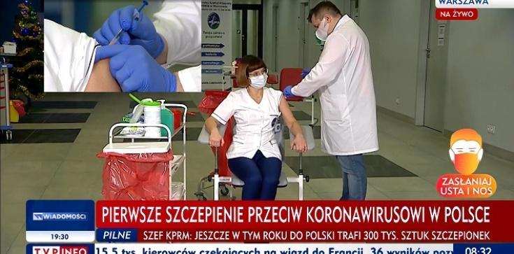 Zaszczepiono pierwszą osobę w Polsce - zdjęcie