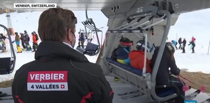 Szwajcaria. Czterystu Brytyjczyków zniknęło z kurortu narciarskiego [Wideo] - zdjęcie