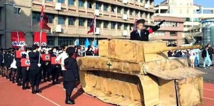 Skandal na Tajwanie: Licealna parada nazistów - zdjęcie