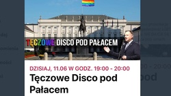 ,,Tęczowe disco'' pod Pałacem Prezydenckim. Rabiej: To prowokacja! - miniaturka