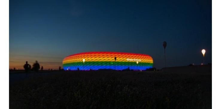 UEFA mówi ,,nie'' dla tęczowego stadionu w trakcie meczu Niemcy-Węgry - zdjęcie