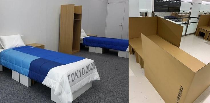 """Tokio. """"By uniknąć zbliżeń"""" - tekturowe łóżka dla olimpijczyków - zdjęcie"""