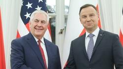 Po spotkaniu Duda - Tillerson. ''Bardzo wyraźne wsparcie USA dla inicjatywy Trójmorza'' - miniaturka