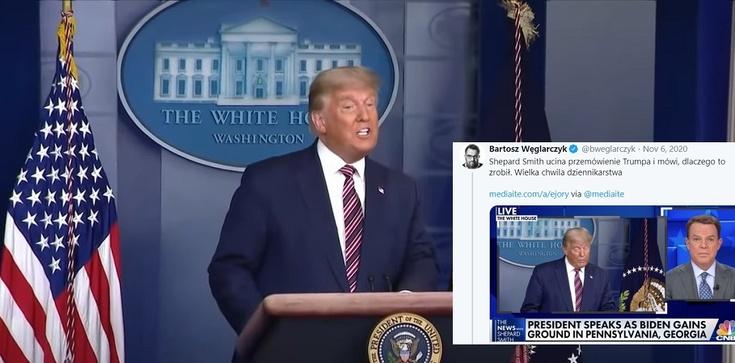 Onet zachwycony ocenzurowaniem konferencji prezydenta Trumpa. Ostre komentarze publicystów i internautów - zdjęcie