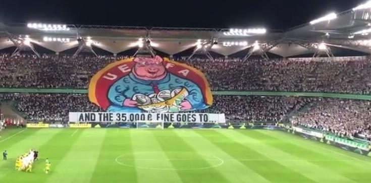UEFA jako pazerna świnia, czyli odpowiedź kibiców Legii na karę - zdjęcie