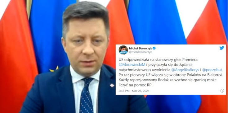 ,,Każdy represjonowany Rodak może liczyć na pomoc''. UE włącza się w obronę Polaków na Białorusi  - zdjęcie