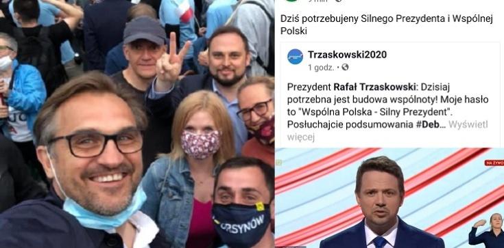 Agitacja na Trzaskowskiego na profilu samorządu gminy Ursynów w Warszawie - zdjęcie