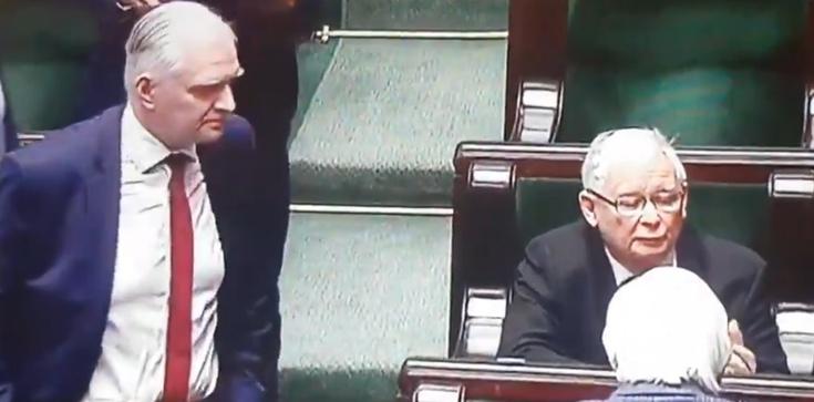 Gowin podszedł do prezesa PiS. Jaka była jego reakcja? - zdjęcie