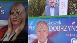 'Rozpoczęła się brudna kampania'... Szczecin: Swastyki i 'Nazi raus' na plakatach kandydatów PiS - miniaturka