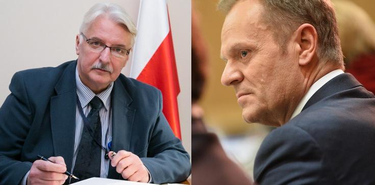 Waszczykowski: Być może Tusk doszedł wreszcie do jakiejś refleksji - zdjęcie