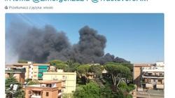 Pożar w Rzymie. 'Głośny wybuch, chmury czarnego dymu' - miniaturka