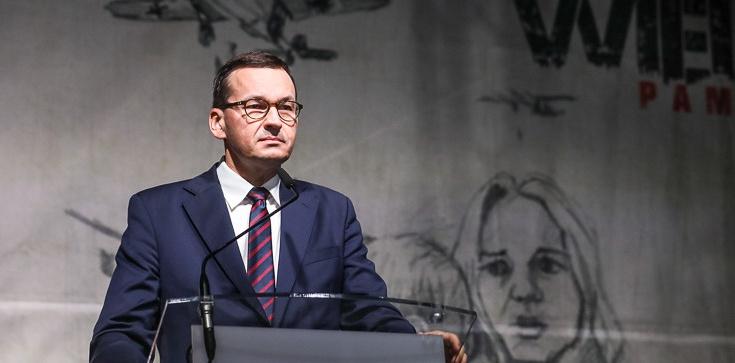 Premier Morawiecki w Wieluniu: Tu objawił się barbarzyński zamysł Niemców - zdjęcie
