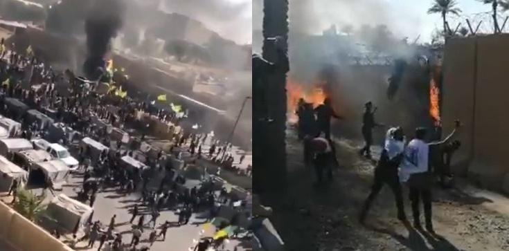 Bagdad: Demonstranci wdarli się do ambasady USA. Konieczna była ewakuacja - zdjęcie