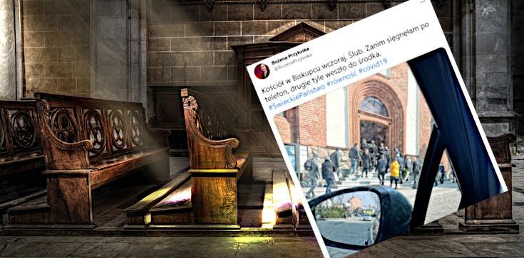 Lewica na tropie łamania obostrzeń w kościołach. Działaczka pomyliła... ślub z pogrzebem - zdjęcie