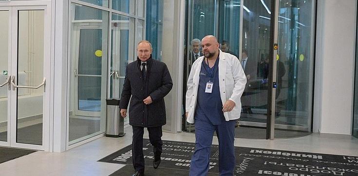 U głównego lekarza szpitala zakaźnego w Moskwie wykryto koronawirusa. Wcześniej spotkał się z Putinem - zdjęcie