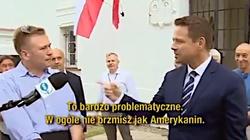 Fala hejtu po spotkaniu Trzaskowskiego. Niewinny Amerykanin odpowiada - miniaturka